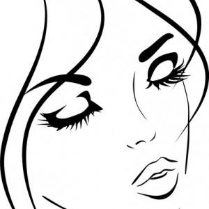 Sticker De Perete Face Beautiful Girl