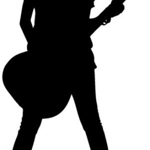 Sticker De Perete Fata Cu Chitara
