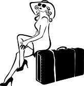 Sticker De Perete Femeie Turista