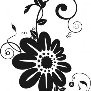 Sticker De Perete Flori Ornamentale