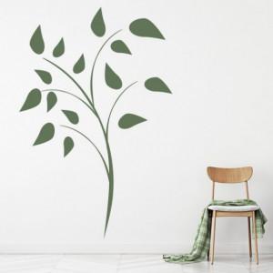 Sticker De Perete Flower Leaves Simple Floral