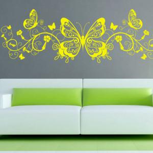 Sticker De Perete Fluture Floral 4