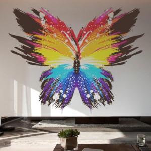 Sticker De Perete Fluturele Colorat