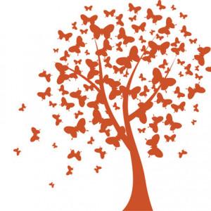 Sticker De Perete Fluturii Din Copac