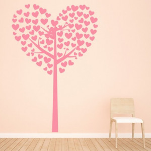 Sticker de Perete Heart Tree