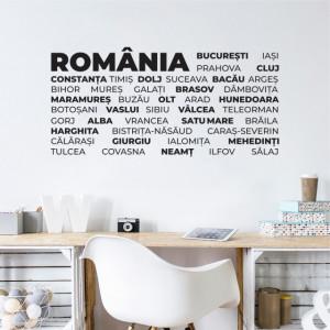 Sticker de Perete Judetele Romaniei