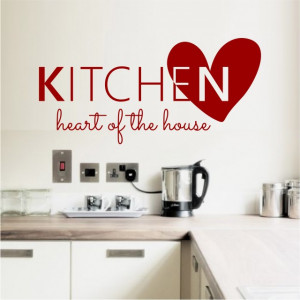 Sticker De Perete Kitchen Heart Of The House