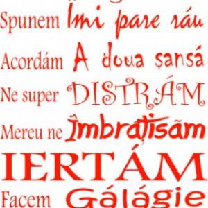 Sticker De Perete La Noi Acasa ... Iubim