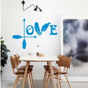 Sticker De Perete Love Din Pene Si Sageti