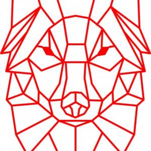 Sticker De Perete Lup Stilizat