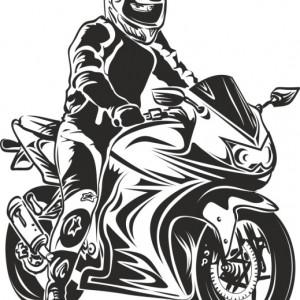 Sticker De Perete Motociclist