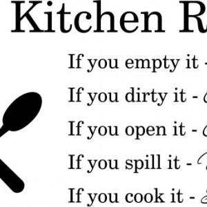 Sticker De Perete Our Kitchen Rules