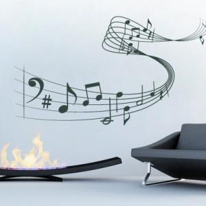 Sticker De Perete Portativ Muzical