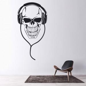 Sticker de Perete Skull Headphones