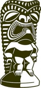 Sticker De Perete Statueta Exotica 11