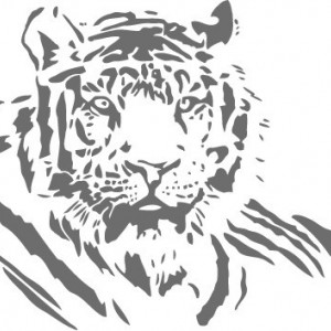 Sticker De Perete Tigru 03