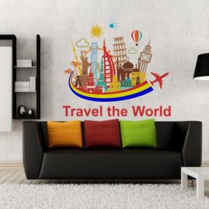 Sticker De Perete Travel The World