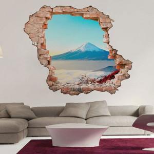 Sticker De Perete Vedere La Muntele Fuji