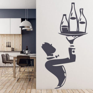 Sticker de Perete Waiter Wine