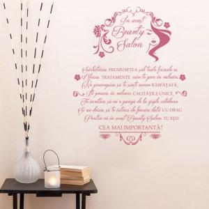 Sticker Decorativ - In Acest Beauty Salon