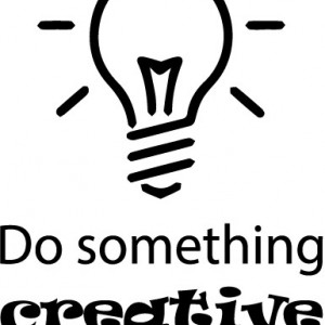 Sticker Pentru Laptop - Do Something Creative
