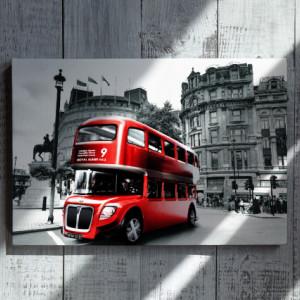 Tablou acrilic - Autobuz londonez rosu
