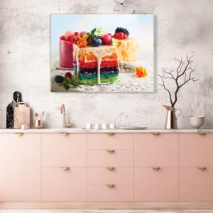 Tablou Bucatarie - Rainbow Cake