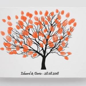 Tablou Canvas Finger Print Tree Fam