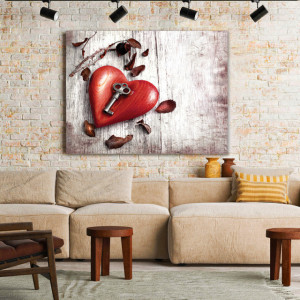 Tablou Canvas Heart With A Key