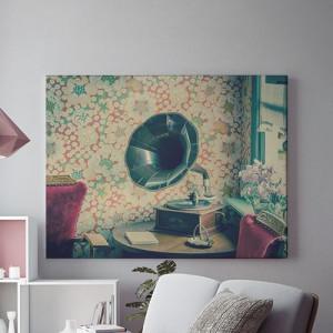 Tablou Canvas Interior vechi cu gramofon