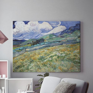 Tablou Canvas Peisaj rural cu deal