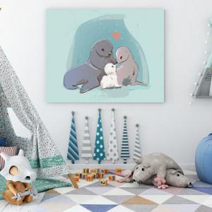 Tablou copii - Seal family