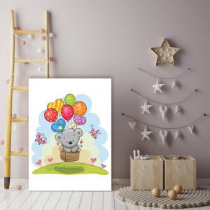 Tablou copii - Ursulet cu baloane