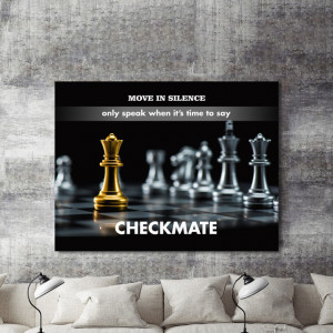 Tablou motivational - Checkmate