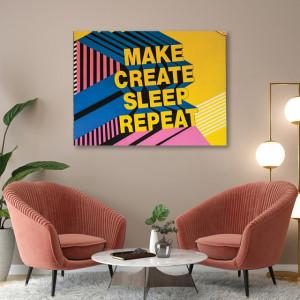 Tablou office - Make create repeat
