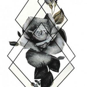 Tatuaj temporar -Trandafir- 17x10cm