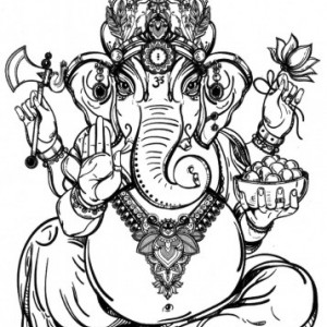 Tatuaj temporar -Zeu Indian - Ganesha- 17x10cm