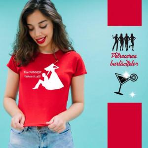 Imprimeu tricou THE WINNER TAKES IT ALL