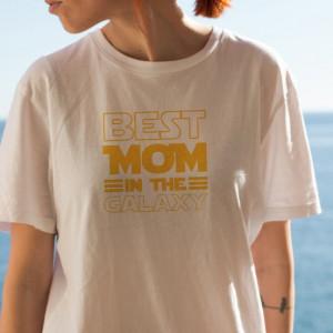 Imprimeu tricou BEST MOM IN THE GALAXY