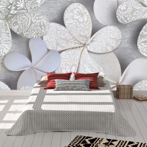 Foto tapet Marble flowers