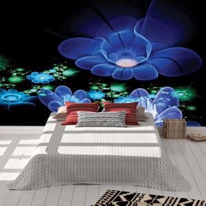 Foto tapet Neon flowers