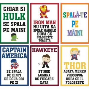 Set Stickere Educative Pentru Copii Cu Supereroi
