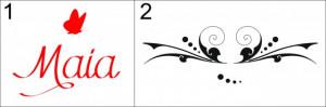 Sticker cu nume - Maia