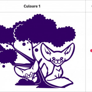 Sticker De Perete Animalute In Tufis (In Doua Culori)