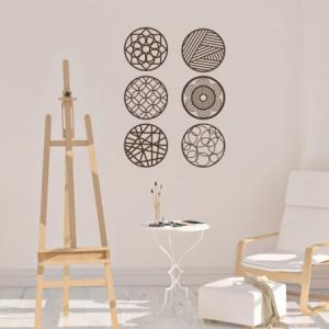 Sticker De Perete Buline Design Abstract Decorativ