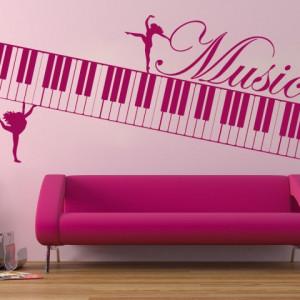 Sticker De Perete Clape Muzicale