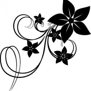 Sticker De Perete Cometa Florala 2