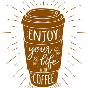 Sticker De Perete Enjoy Your Life With Coffee