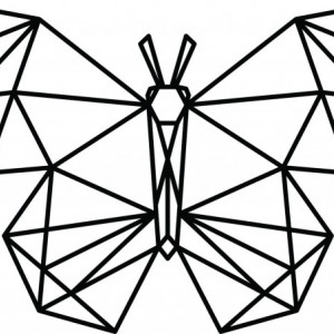 Sticker De Perete Fluture Stilizat