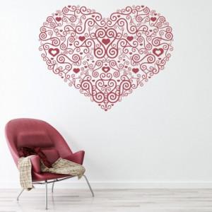 Sticker de Perete Heart Centrepiece Spiral Love